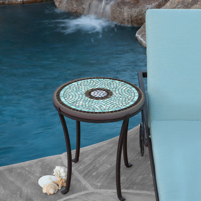 Mosaic Chaise Table - Round