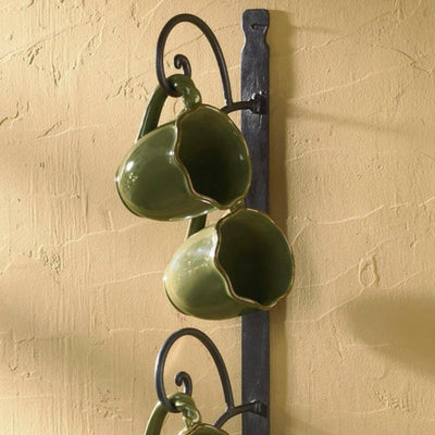 Cottage Six Mug Vertical Rack | Iron Accents