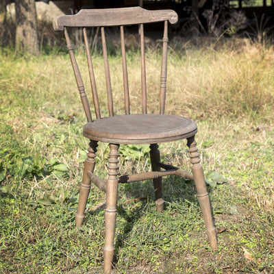 Country Wooden Chair (Set-2) | Iron Accents