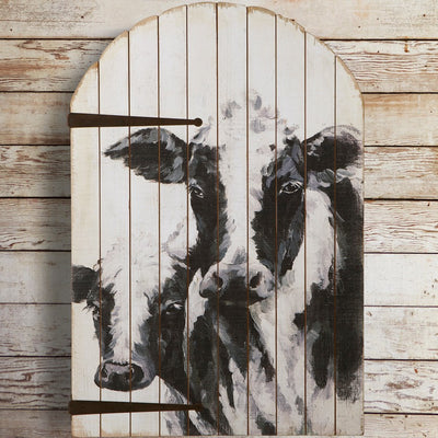 Cow & Calf Arch Wall Decor | Iron Accents