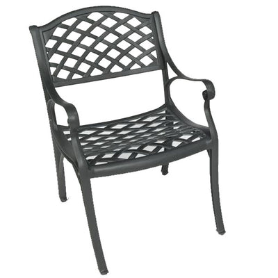 Crossweave Arm Chair (Set-2)-Iron Accents
