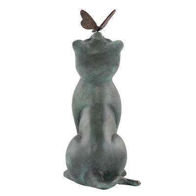 Curious Kitten Garden Sculpture-Garden | Iron Accents