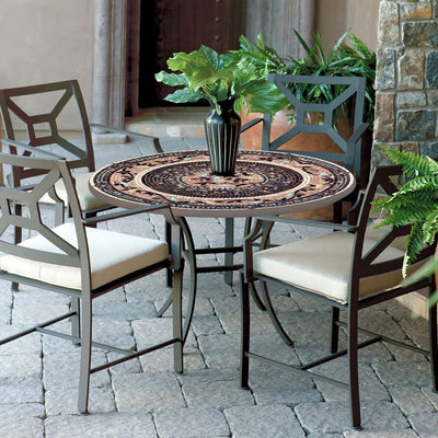 Provence Mosaic Patio Table-Iron Accents