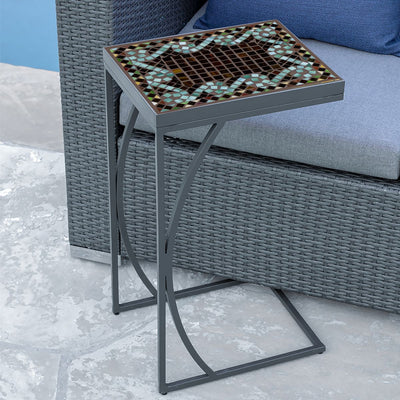 Oasis Mosaic C-Table-Iron Accents