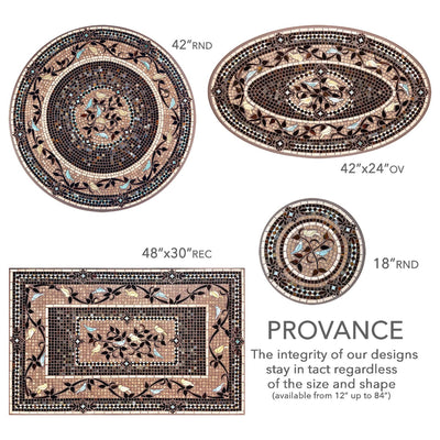 Provence Mosaic Table Tops-Iron Accents