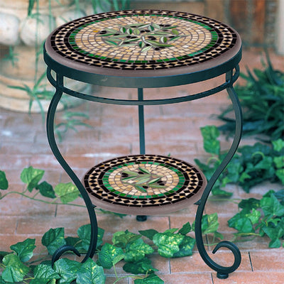 Mosaic Double Side Table - 18""