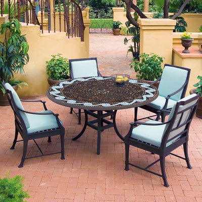 Oasis Mosaic Patio Table-Iron Accents