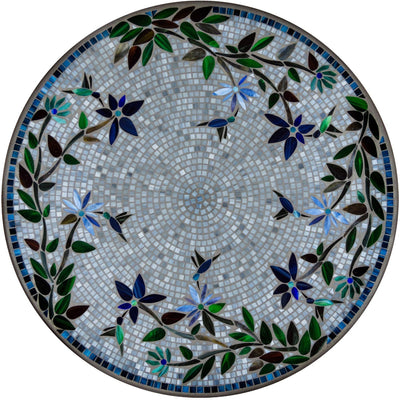 Royal Hummingbird Mosaic Table Tops-Iron Accents