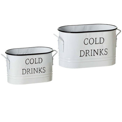 Enamel Beverage Tubs (Set-2)