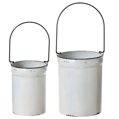 Enamel Bucket with Handle (Set-2)