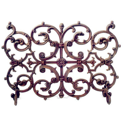 Esplanade French Fireplace Screen | Iron Accents