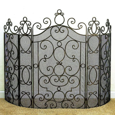 Faux Antique Fire Screen
