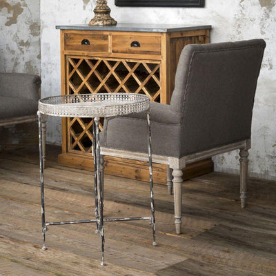 Filigree Serving Table | Iron Accents