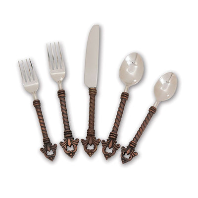 Fleur De Lis Flatware (5-piece) Close Up