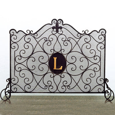 Fleur Monogram French Screen-Iron Accents