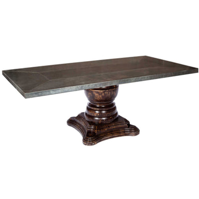 Fredrick Dining Table with Zinc Top