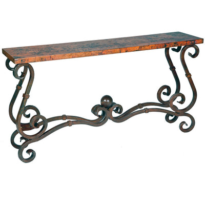 French Console Table w/ 64x14 Top