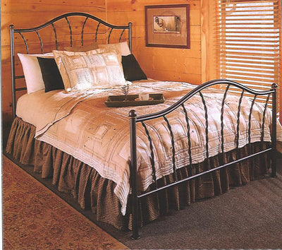 French Country Prescott Iron Bed