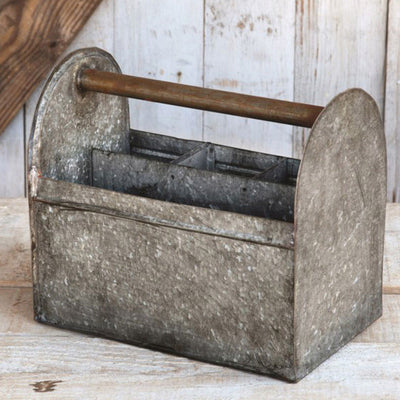 Galvanized Tool Caddy | Iron Accents