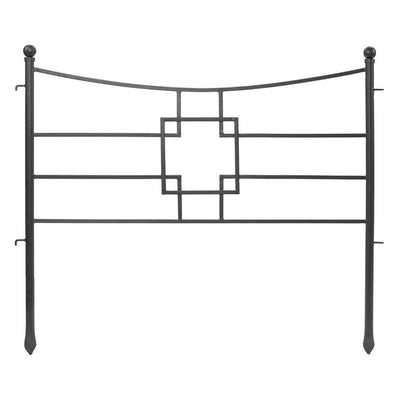 Geometric Iron Fence Section