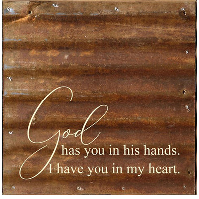 God Has You - Wall Plaque | Iron Accents