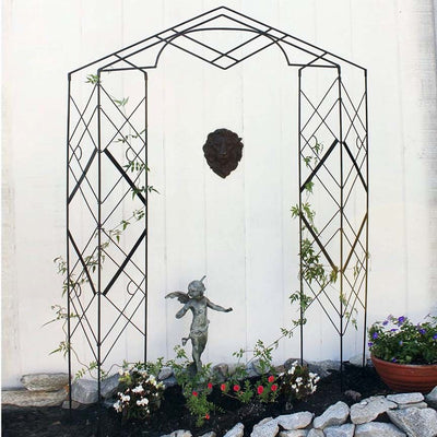 Grecian Wrought Iron Trellis