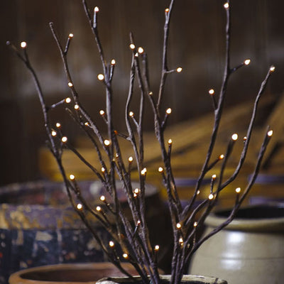 Lighted In/Outdoor Willow | Iron Accents