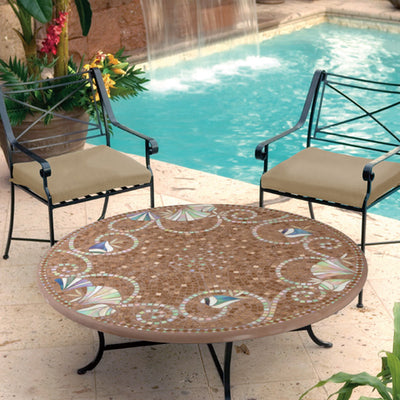 Iron & Mosaic Coffee Table - 48""