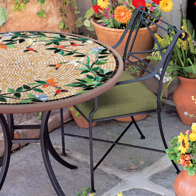 Iron & Mosaic Patio Table - 36""