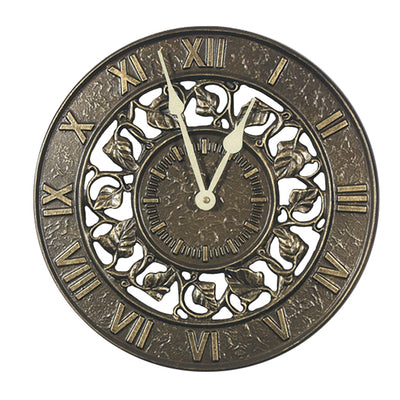 Ring of Ivy Outdoor Garden Clock | iron Accents