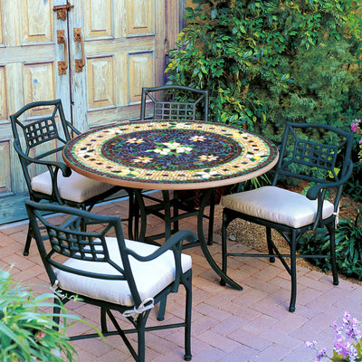Iron & Mosaic Patio Table - 54""