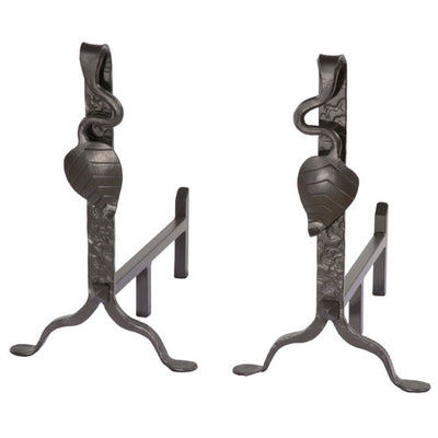 Leaf Andirons (Pair)-Iron Accents