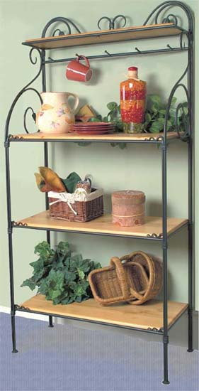 Leaf Bakers Racks - 4 Tier-Iron Accents
