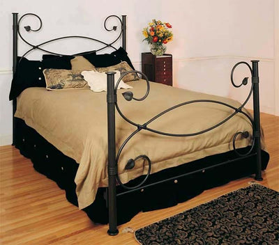 Leaf Wrought Iron Bed-Iron Accents