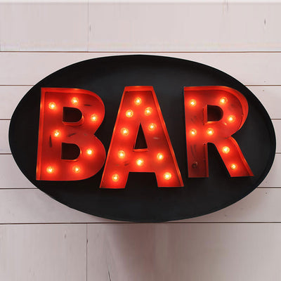 Lighted Bar Sign | Iron Accents