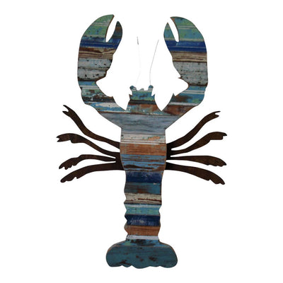 Lobster Reclaimed Wood Plaque - Coastal