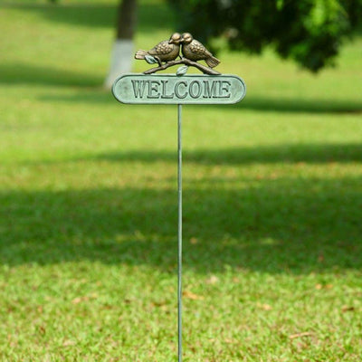 Lovebirds Welcome Sign-Garden | Iron Accents