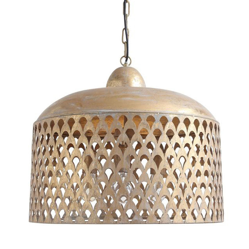 Luxe Gold Pendant Lamp Iron Accents