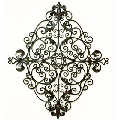 Manor Scroll Wall Grill-Iron Accents
