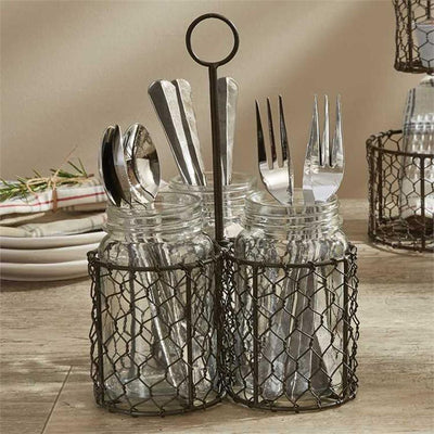 Farm House Utensil Caddy | Iron Accents