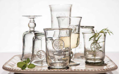 Medallion Water Glass (Set-4) Collection