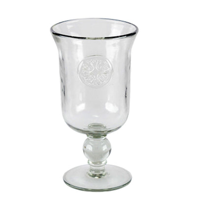 Medallion Water Glass (Set-4) | Iron Accents