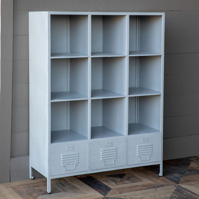 Metal School Cubby Shelf | Iron Accents
