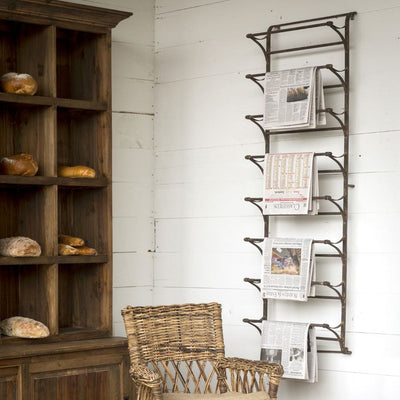 Metal Wall Display Rack | Iron Accents