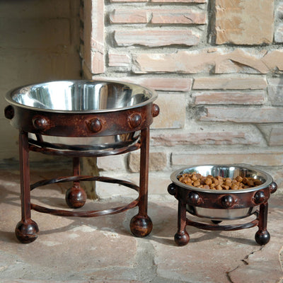 Mission Single Pet Feeders | Iron Accents
