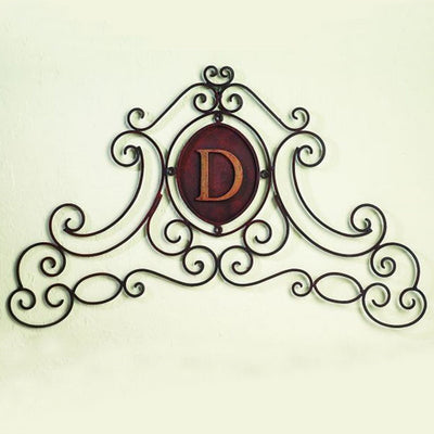 Monogram Wall Grill-Iron Accents