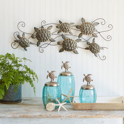 Multi Turtle Wall Plaque | Iron Accents