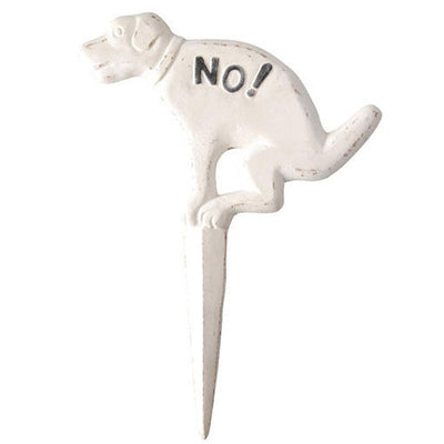 No-No Dog Sign-Iron Accents