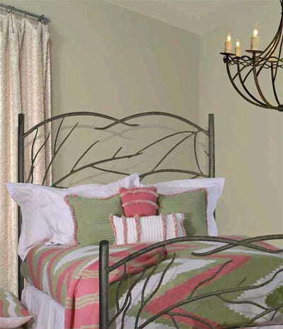 Norfork Headboard & Frame-Iron Accents
