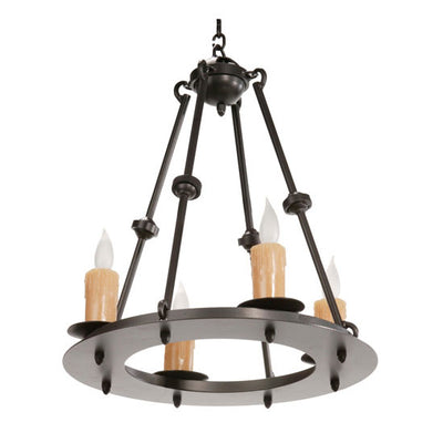 Nova 4 Light Chandelier-Iron Accents